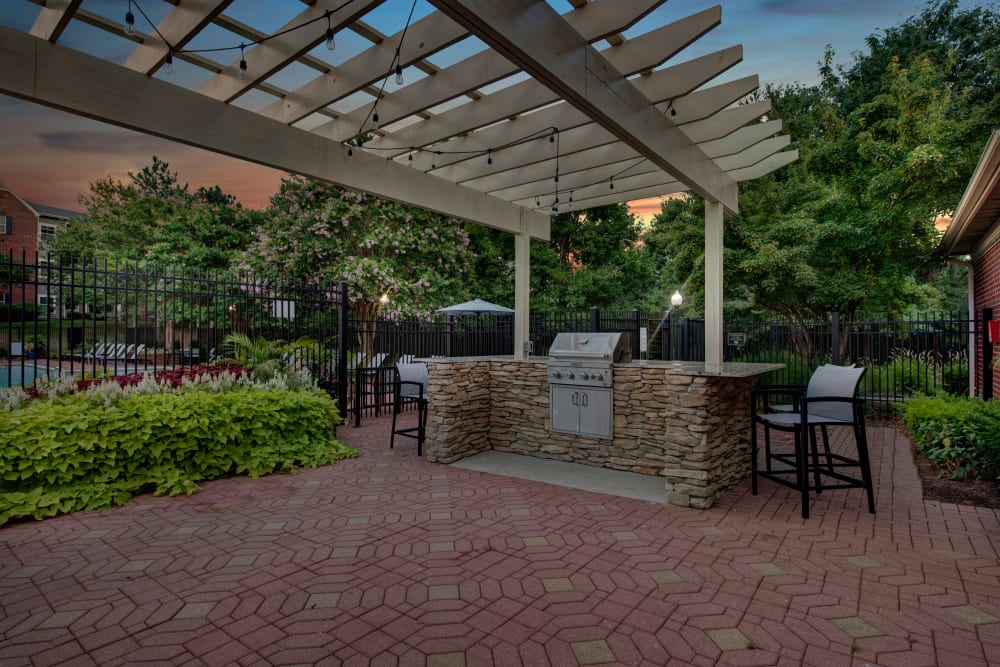 Poolside bbq at Woodway at Trinity Centre in Centreville, Virginia