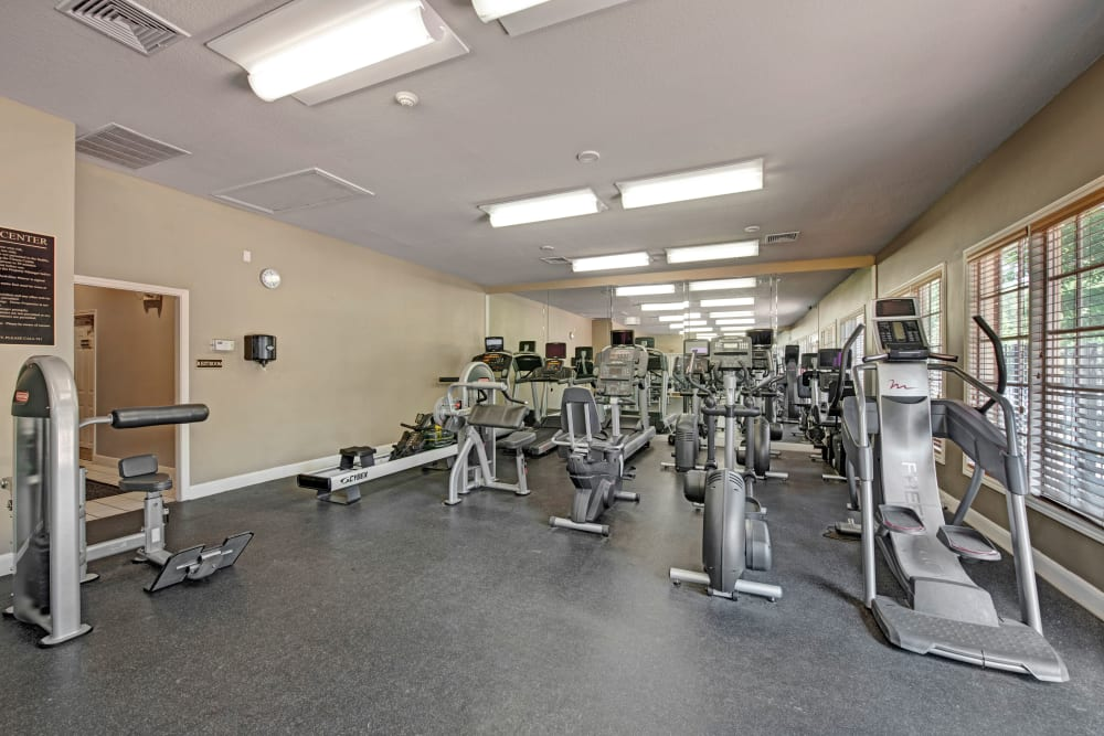 Gym at Woodway at Trinity Centre in Centreville, Virginia