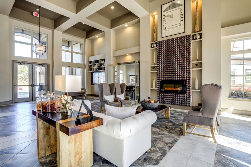 Large luxury clubhouse at The Addison at South Tryon in Charlotte, North Carolina