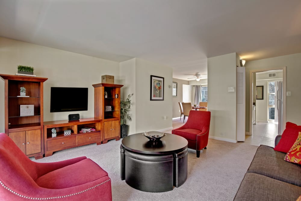 Beautiful living room at Westchester West Silver Spring, MD