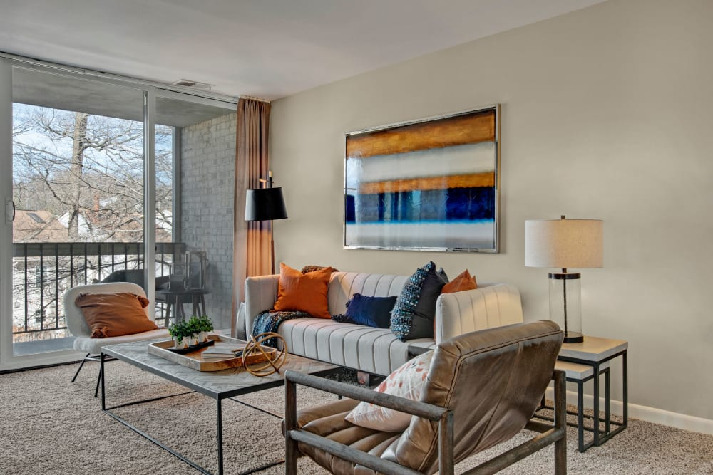 Model living room at West Springfield Terrace Springfield, VA