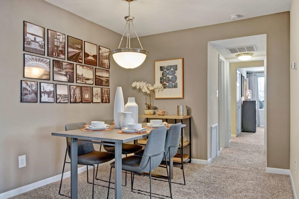 Model dining room at West Springfield Terrace Springfield, VA