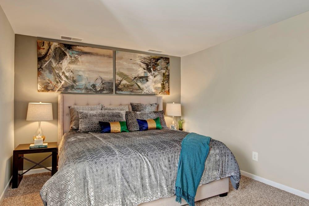 Model bedroom at West Springfield Terrace Springfield, VA