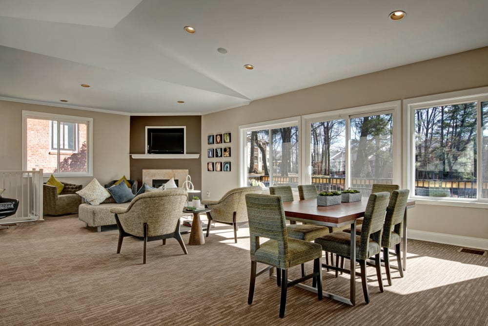 Clubhouse with modern decor at West Springfield Terrace in Springfield, Virginia