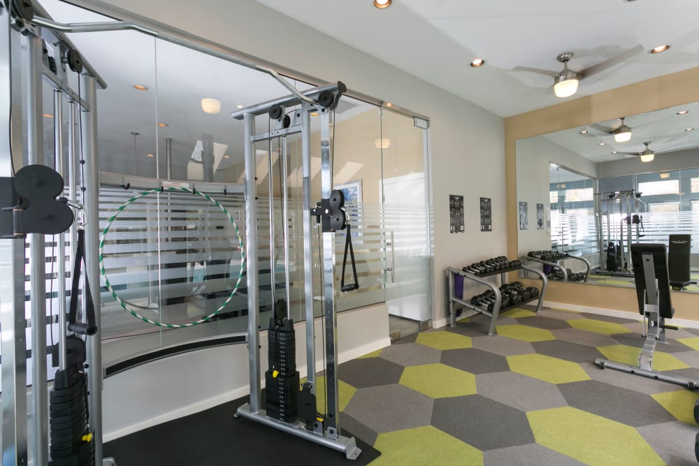 Fitness center at Waterfield Court Apartment Homes Aurora, CO