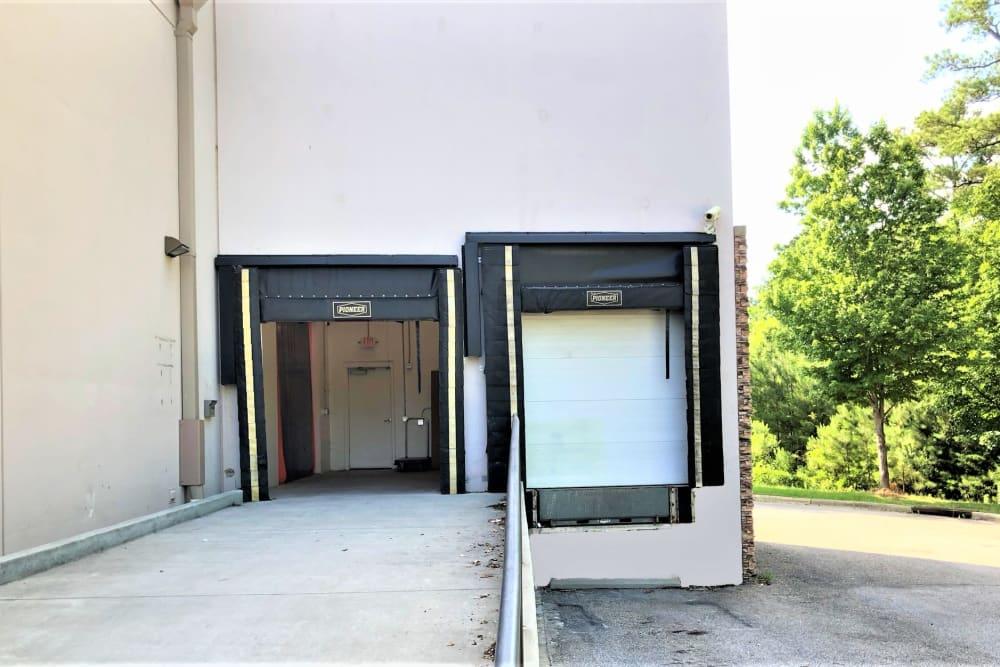 Loading dock at My Neighborhood Storage Center in Raleigh, North Carolina