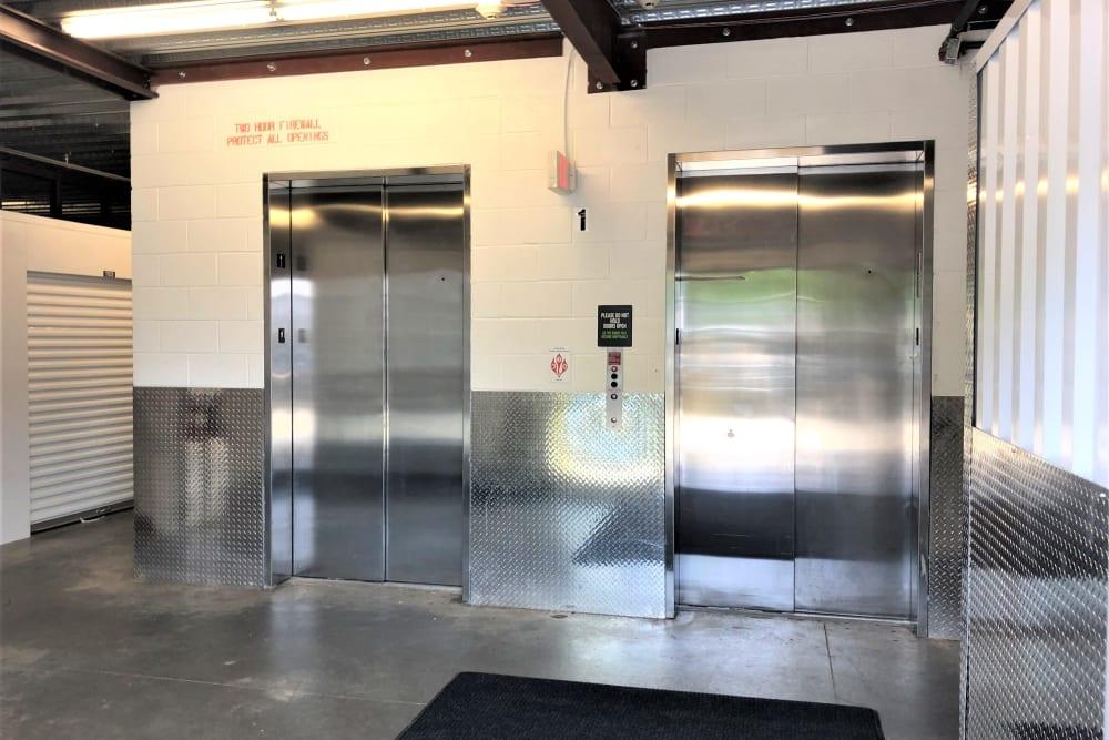 Elevator in the facility at My Neighborhood Storage Center in Durham, North Carolina