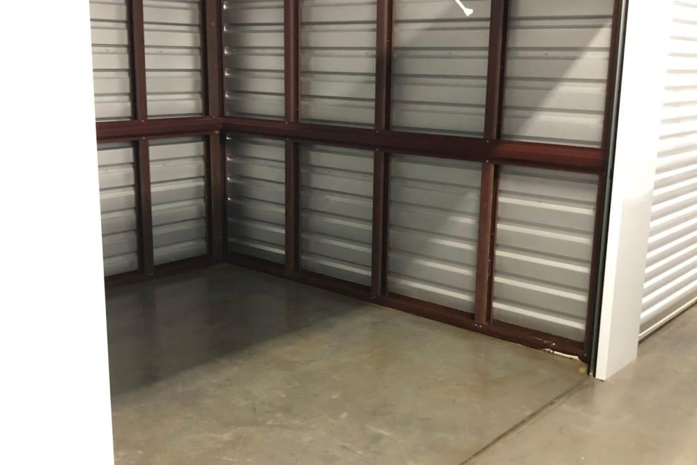 Inside of a storage unit at My Neighborhood Storage Center in Durham, North Carolina