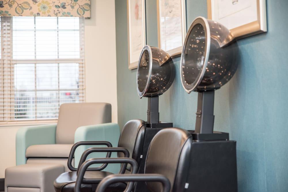 In house hair salon at Gateway Springs Health Campus in Hamilton, Ohio