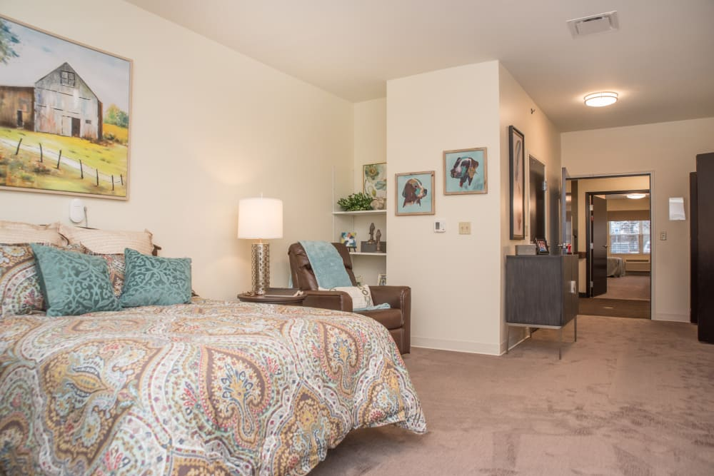 Studio senior apartment at Gateway Springs Health Campus in Hamilton, Ohio