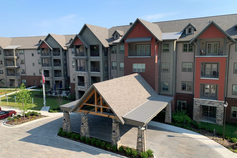 The entrance at Harmony at Brentwood in Brentwood, Tennessee