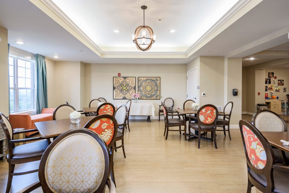 Dining room at Harmony at Brentwood in Brentwood, Tennessee