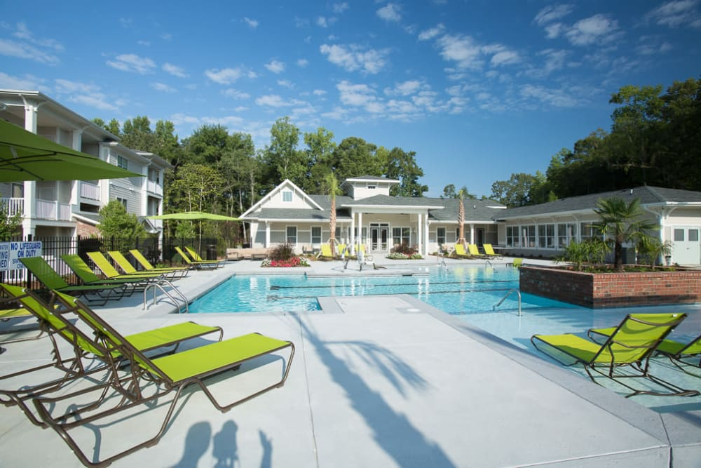 Pool view of Ansley Commons Apartment Homes in Ladson, South Carolina