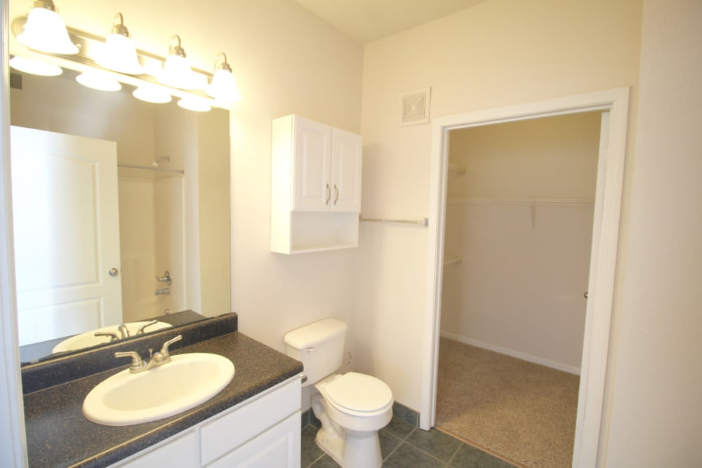 Bathroom at Timber Lakes Apartment Homes in Kansas City, Missouri