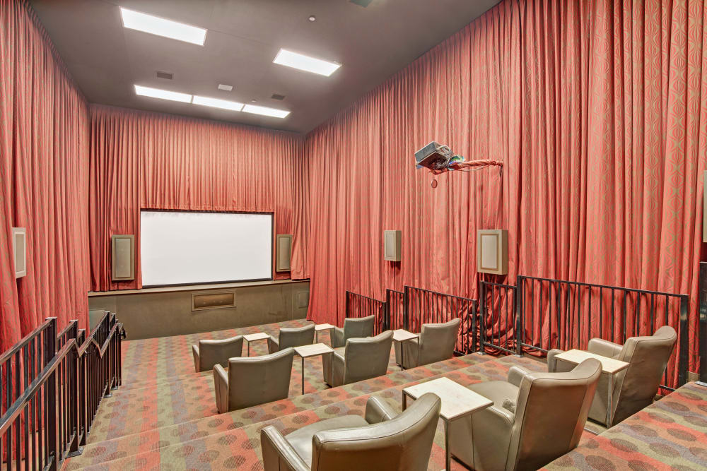 Movie theater at Sussex at Kingstowne in Alexandria, Virginia