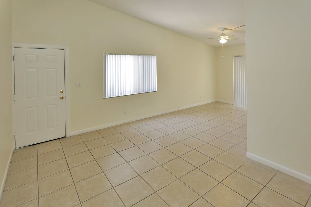Living room at Stonewood Townhomes in Melbourne, Florida