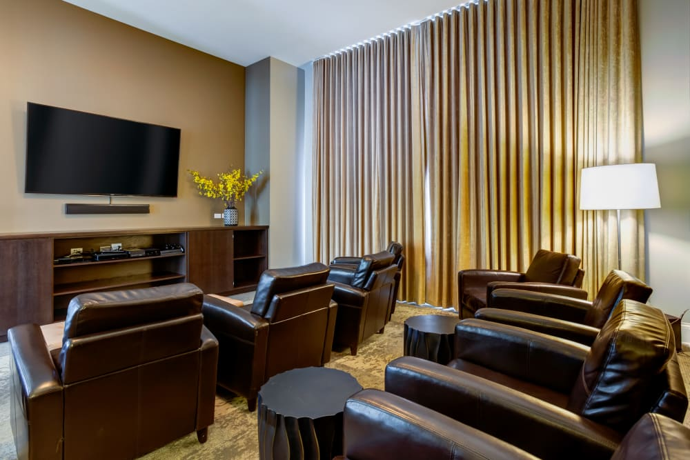 Community movie room at The Oaks Of Vernon Hills in Vernon Hills, IL