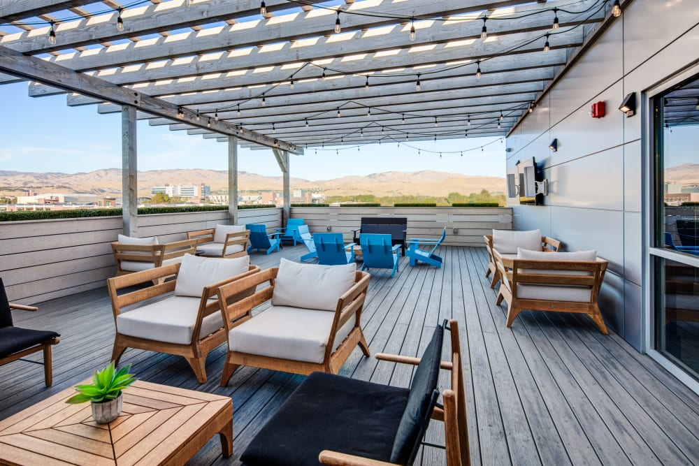 Rooftop lounge at IDENTITY Boise in Boise, Idaho