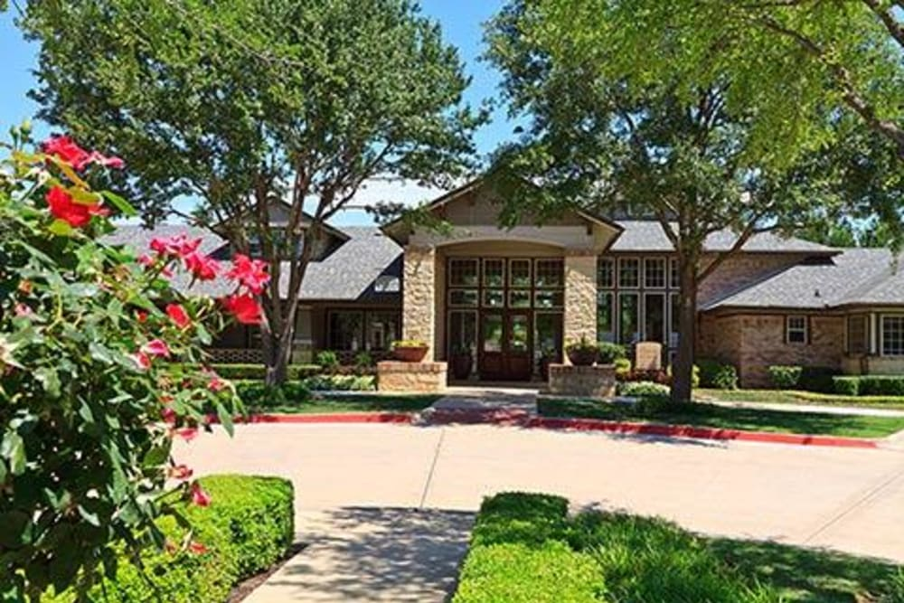 Clubhouse exterior at Somerset at Spring Creek in Plano, Texas