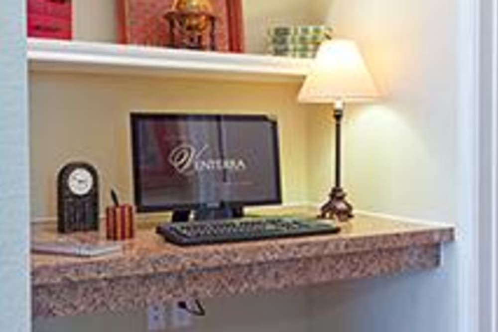 Office nook at Somerset at Spring Creek in Plano, Texas
