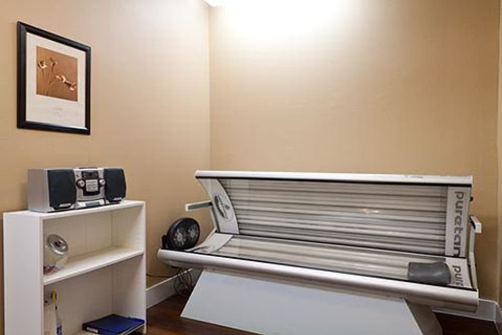 Tanning booth at Somerset at Spring Creek in Plano, Texas