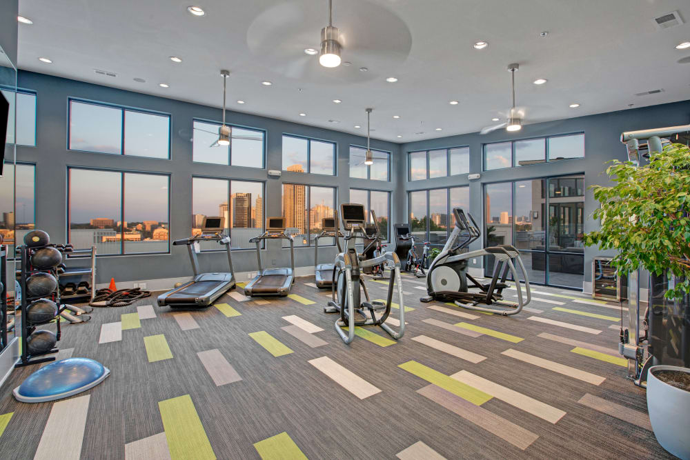 State of the art gym at Mark at West Midtown in Atlanta, GA