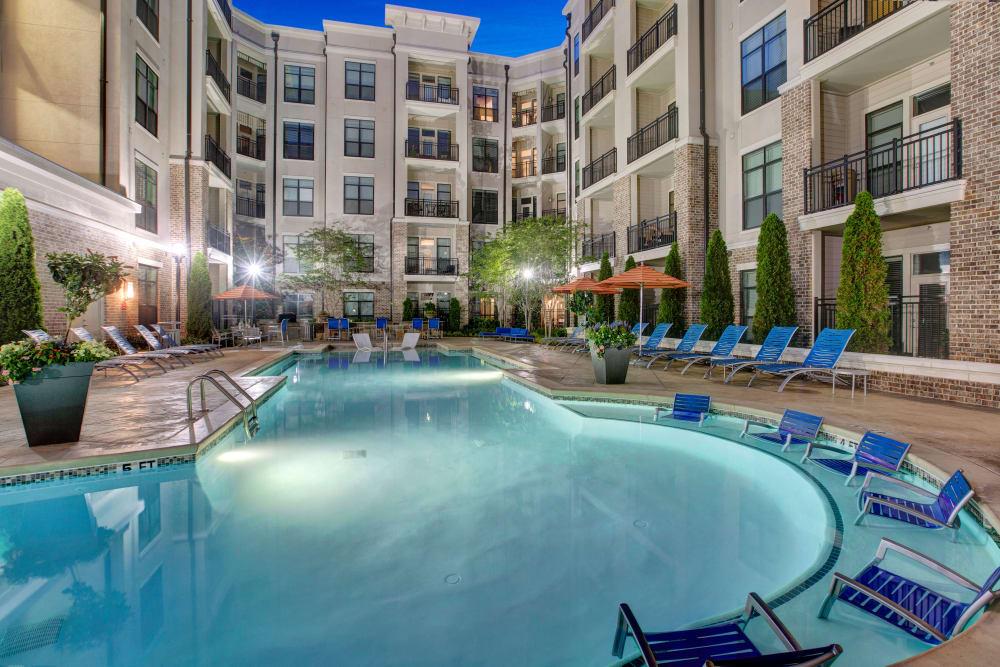 Beautiful pool at Mark at West Midtown in Atlanta, GA