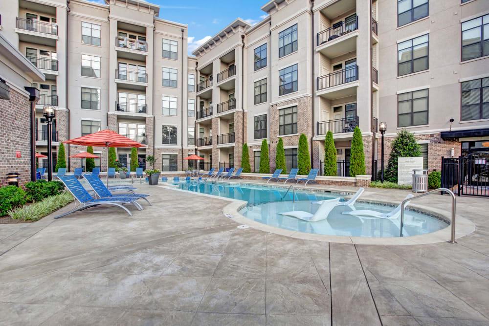 Pool courtyard at Mark at West Midtown in Atlanta, GA