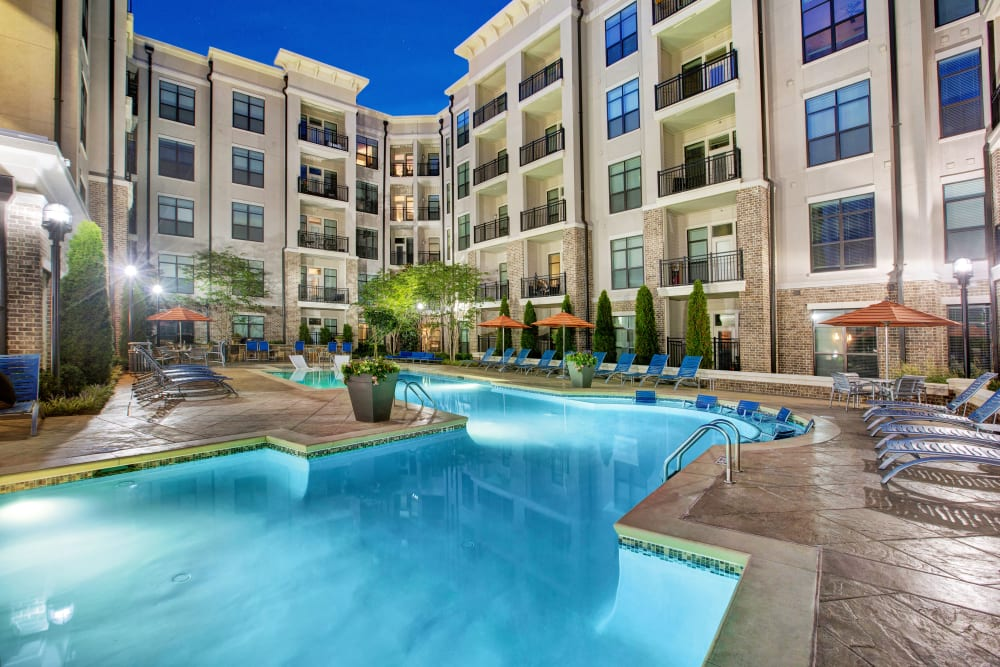 Sparkling pool at Mark at West Midtown in Atlanta, GA