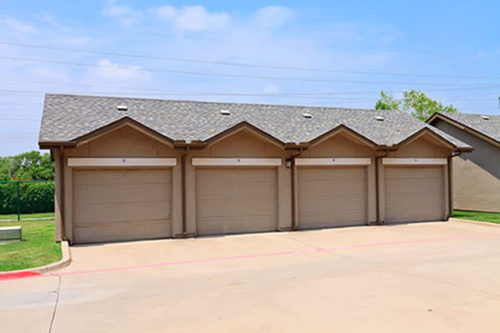 Parking garage onsite at Somerset at Spring Creek in Plano, Texas