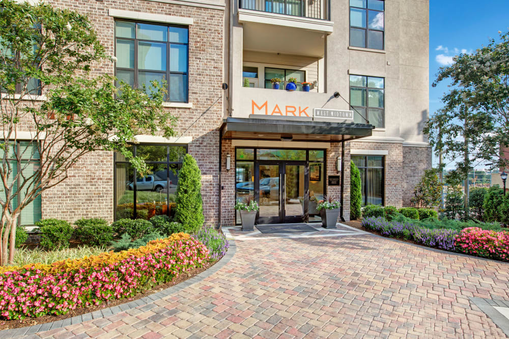 Clubhouse entry at Mark at West Midtown in Atlanta, GA
