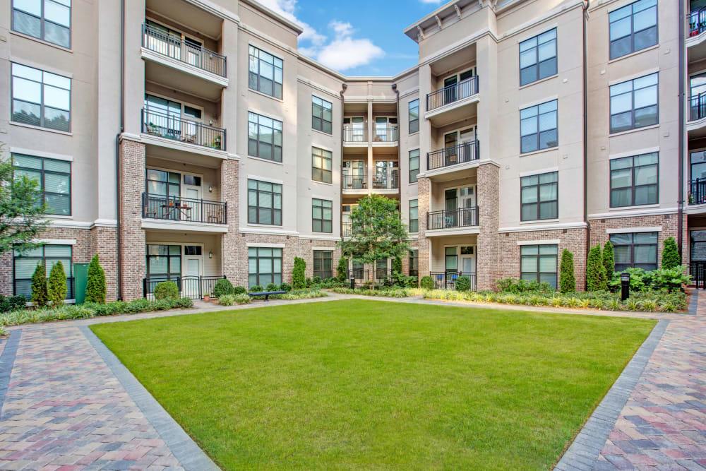 Grassy courtyard at Mark at West Midtown in Atlanta, GA