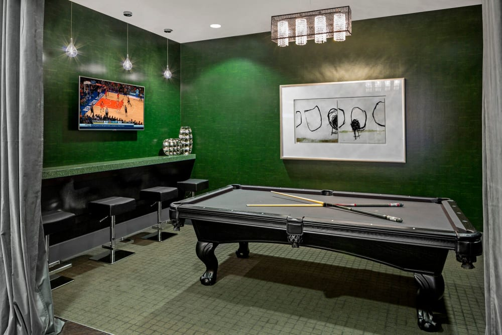 Billiards table at Skyline New Rochelle in New Rochelle, New York