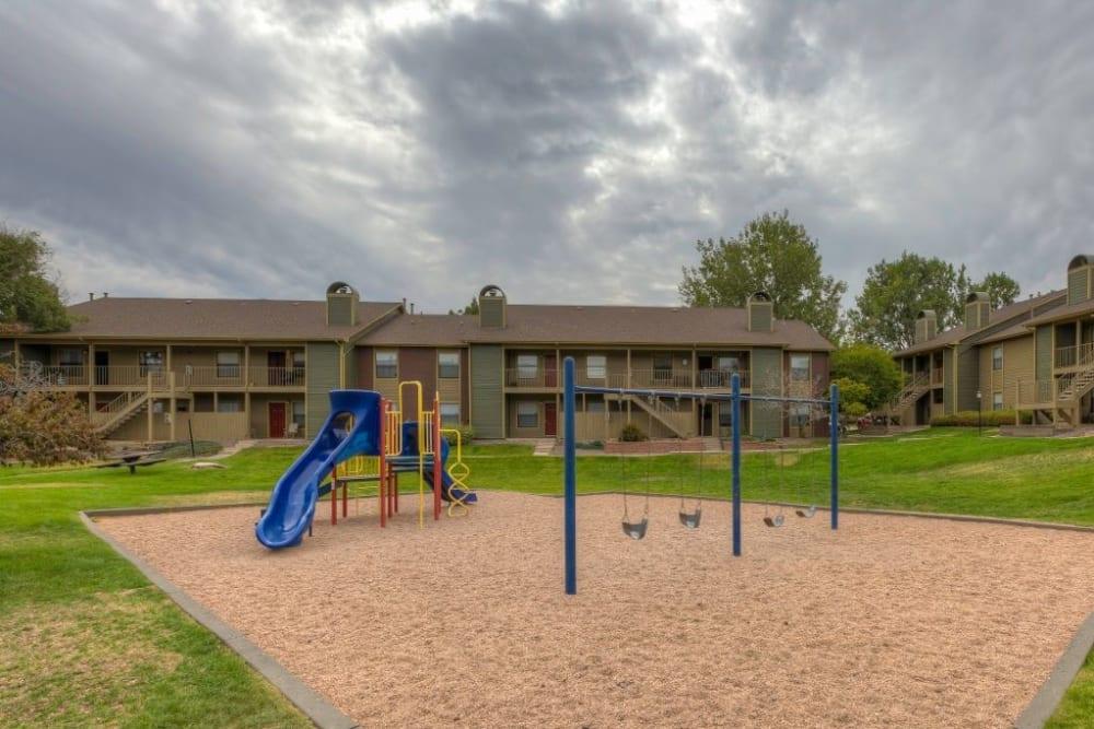 Children's playground at Skyline in Thornton, Colorado