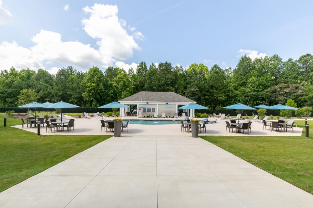 View of the pool area at The Station at River Crossing in Macon, Georgia