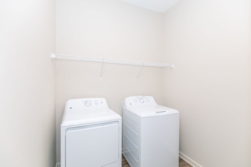 Laundry units at The Station at River Crossing in Macon, Georgia