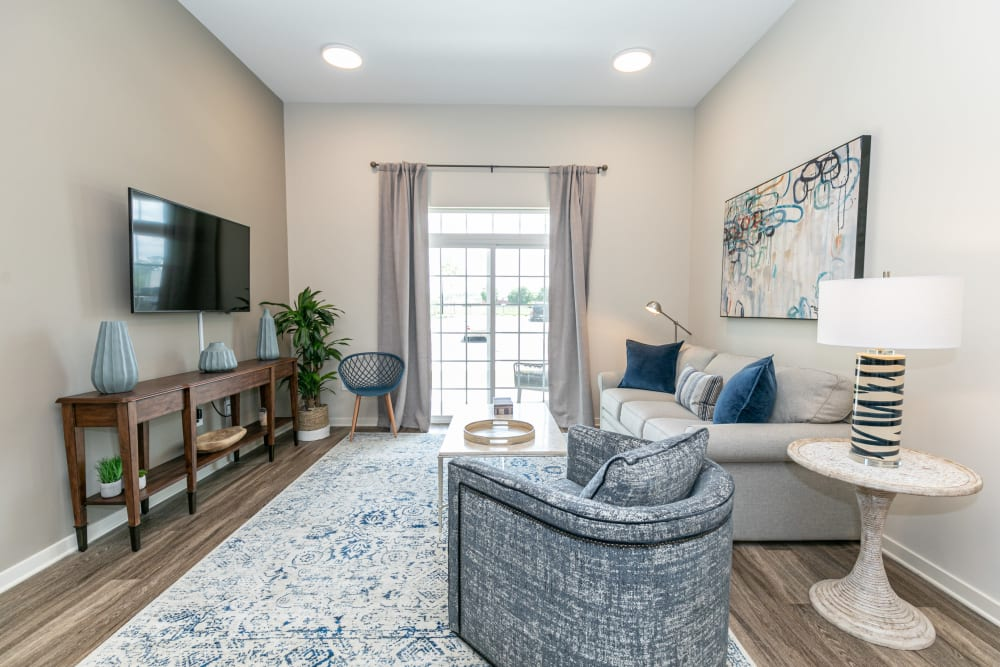 Living room at The Station at River Crossing in Macon, Georgia