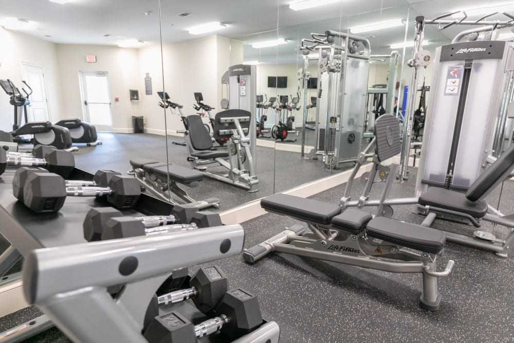 State of the art fitness center at The Station at River Crossing in Macon, Georgia
