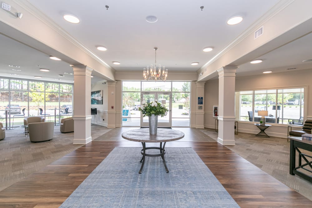 Beautiful clubhouse at The Station at River Crossing in Macon, Georgia
