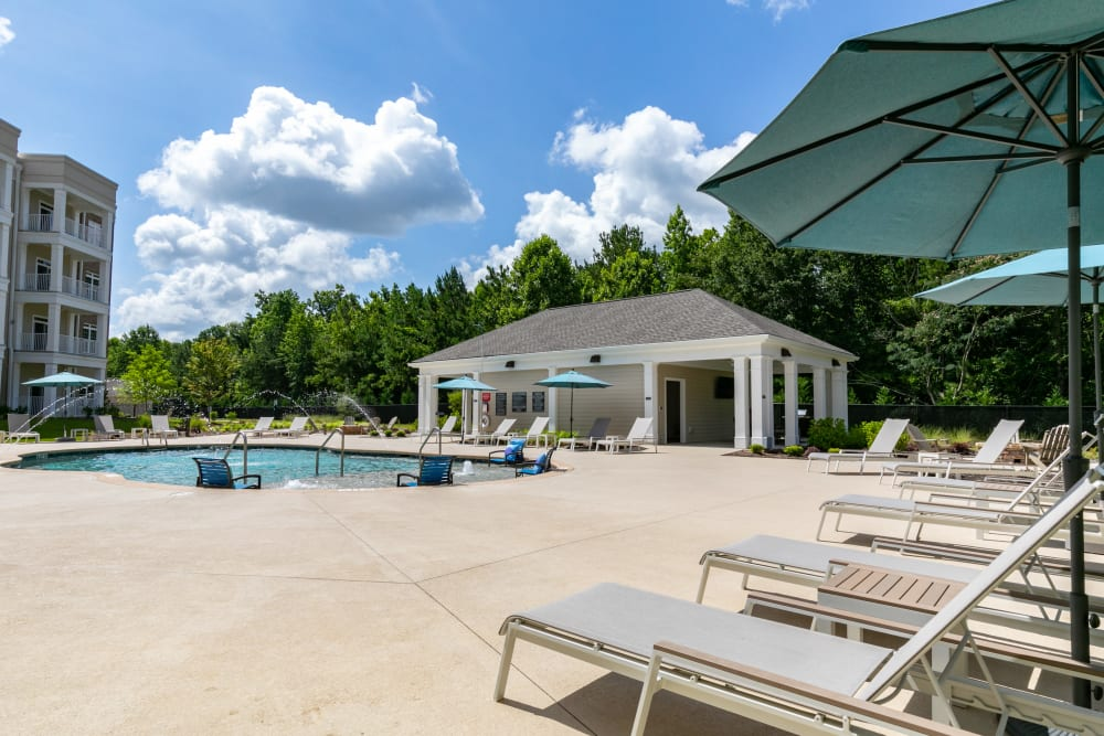 Swimming pool area at The Station at River Crossing in Macon, Georgia