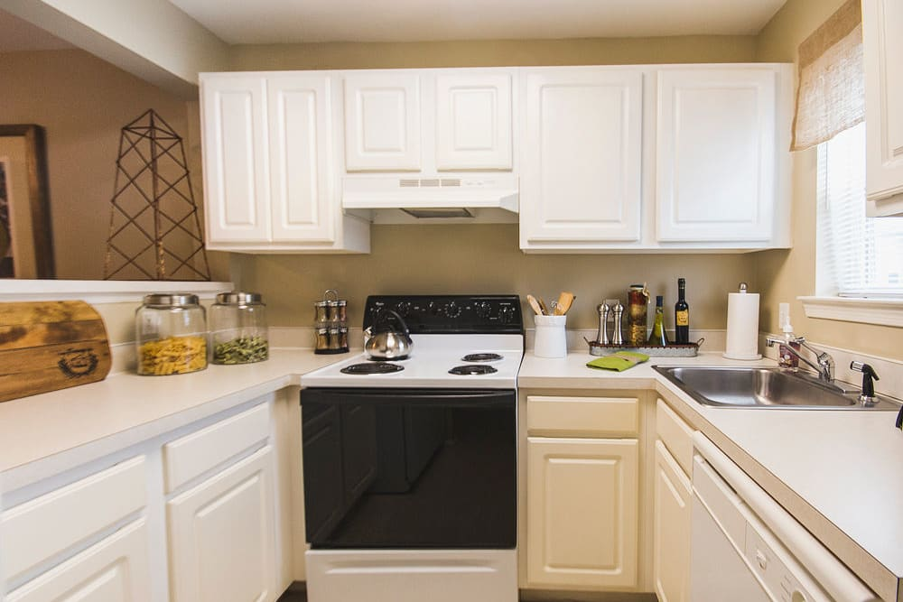 Kitchen at Harbor Village Apartments in Richmond, Virginia