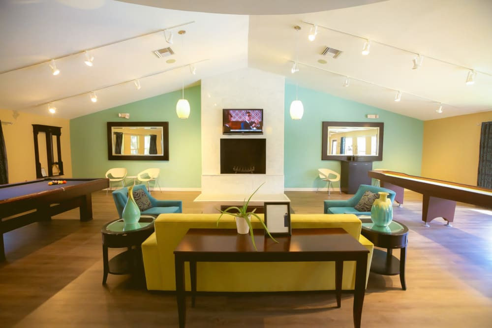 Clubhouse interior at Signal Pointe Apartment Homes in Winter Park, Florida