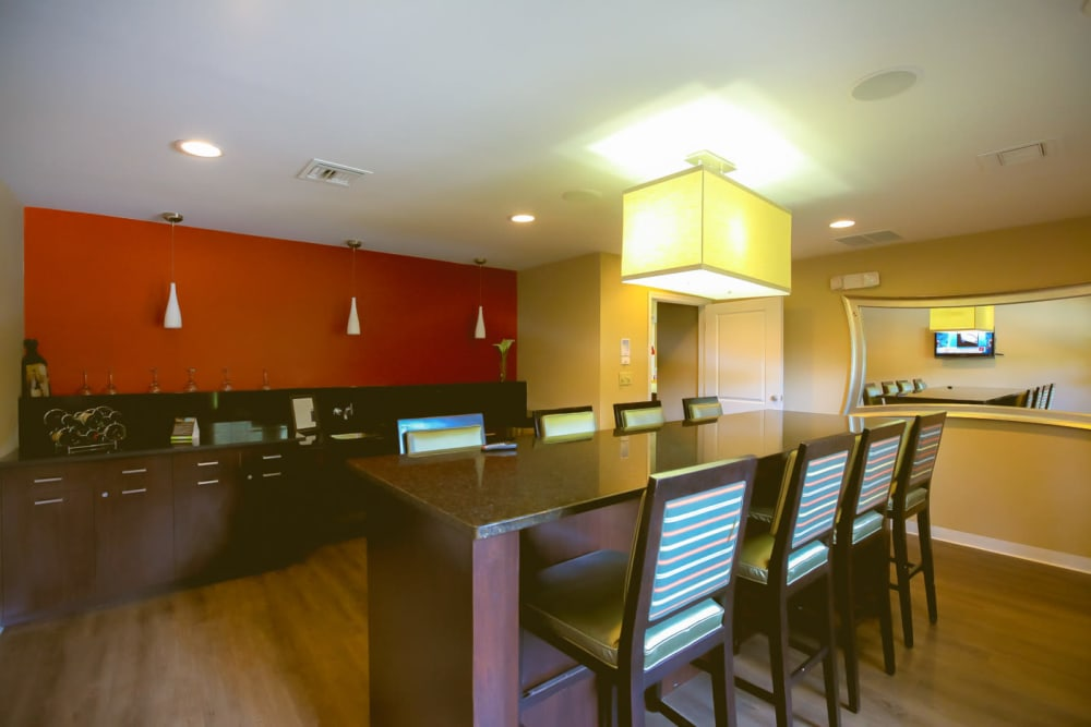 Clubhouse coffee bar at Signal Pointe Apartment Homes in Winter Park, Florida