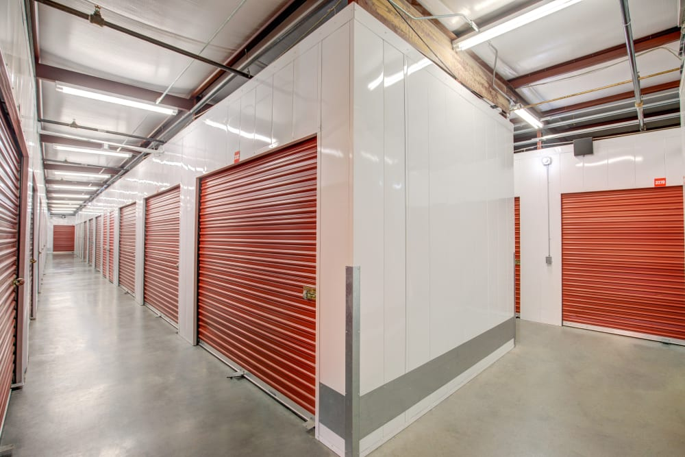 An indoor storage unit at My Self Storage Space in Spring Valley, Nevada
