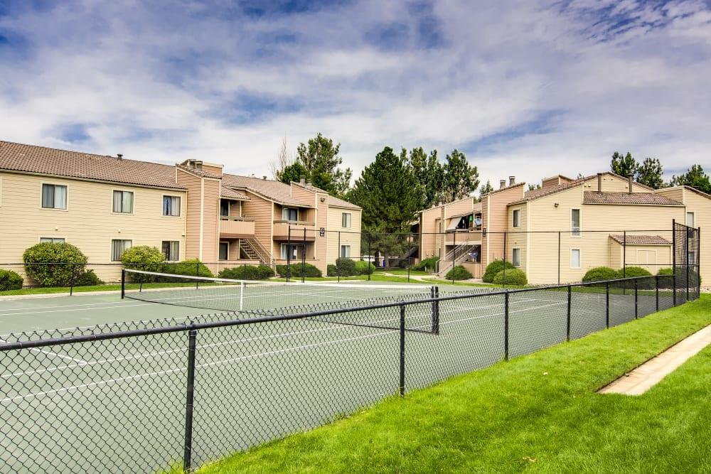 Tennis court at Santana Ridge in Denver, Colorado