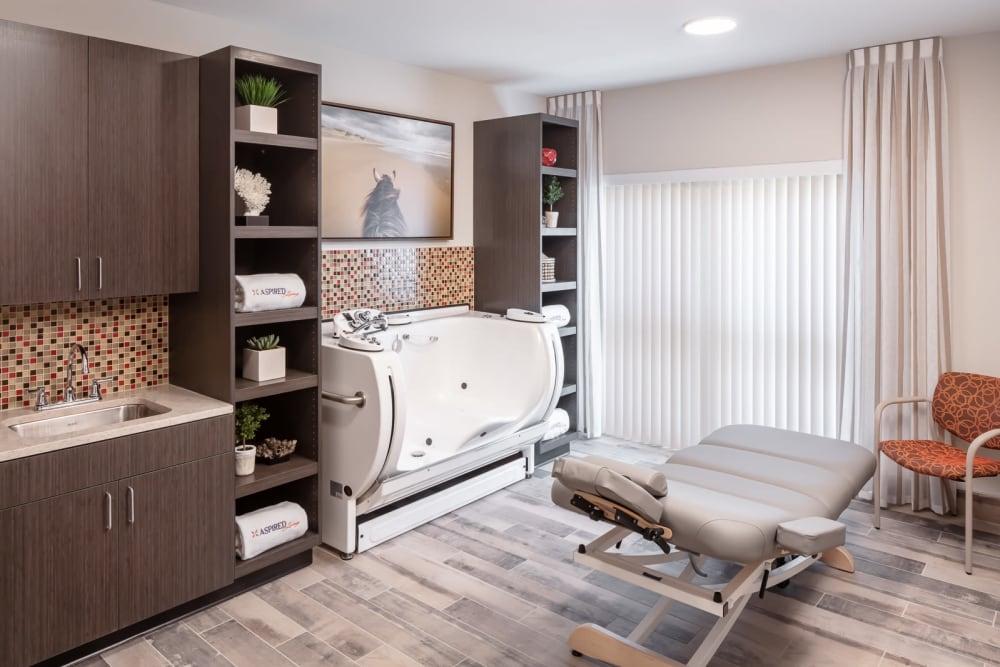 walk in spa bath and massage chair at Aspired Living of La Grange in La Grange, Illinois
