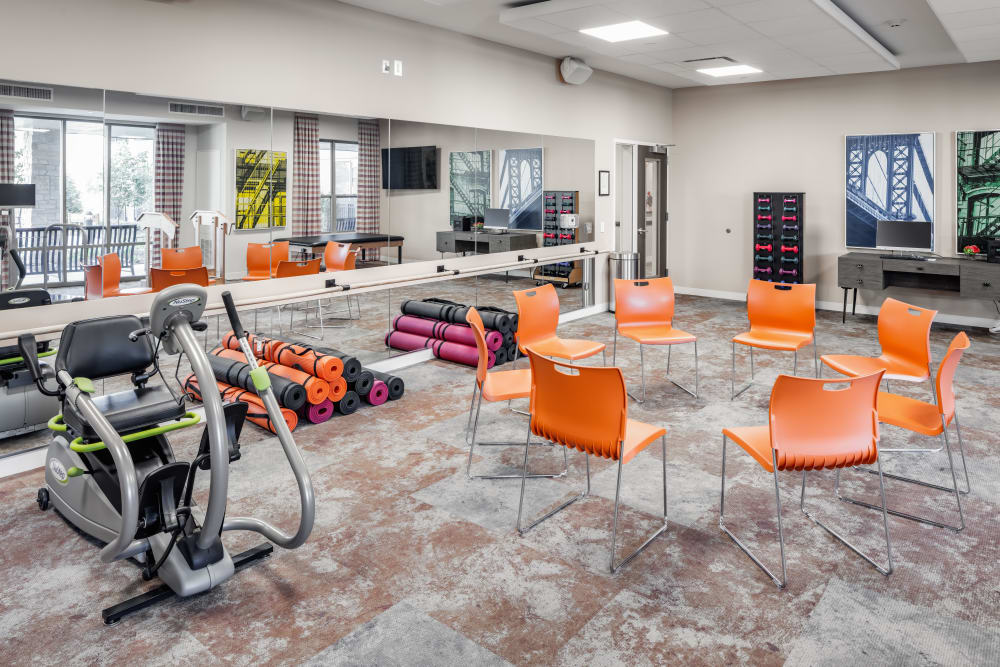 Activity and exercise room at Aspired Living of La Grange in La Grange, Illinois