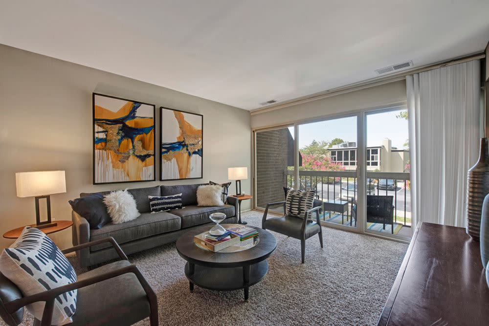 Modern Living Room at Apartments in Silver Spring, Maryland