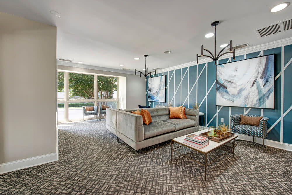 Stylish living room at Cinnamon Run at Peppertree Farm in Silver Spring, Maryland