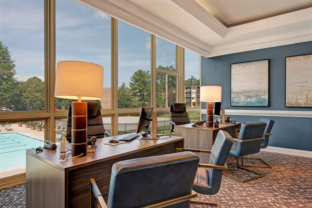 Leasing office interior at Cinnamon Run at Peppertree Farm in Silver Spring, Maryland